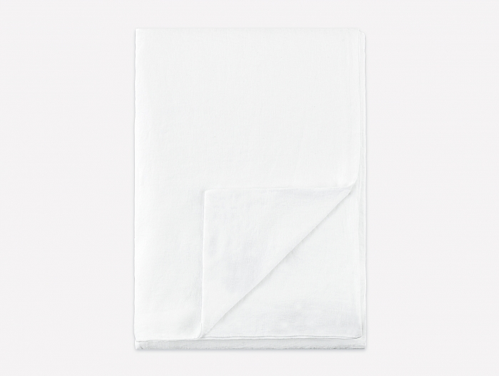 Langø - Fitted sheet, white