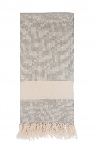 Langø - Grey cotton blanket - sold out