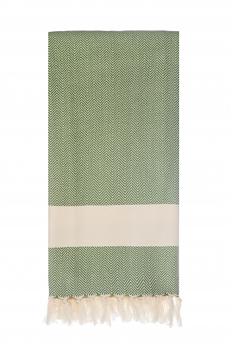 Langø - Green cotton blanket (129,-)